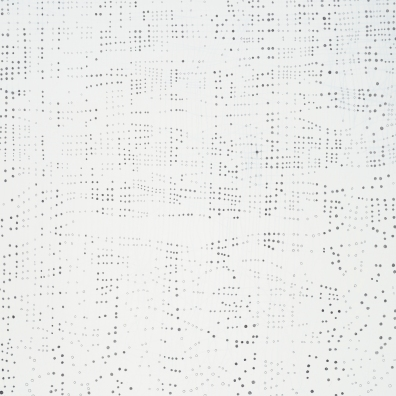 "Network of Diminishing Order (detail). 2013 Graphite, china marker, and gesso on linen over panel. 24"" x 24"""