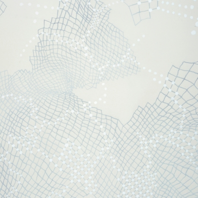 "Networks. Expansion (detail). 2013 Graphite, china marker, and gesso on linen over panel. 24"" x 24"" Private collection"